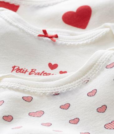Trio de bodis de manga corta para bebé niña