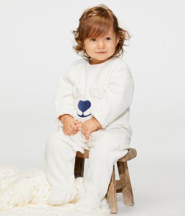 Sobrepijama de polar para bebé blanco Marshmallow