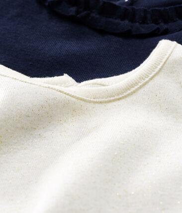 Juego de 2 camisetas de manga larga para bebé niña lote .