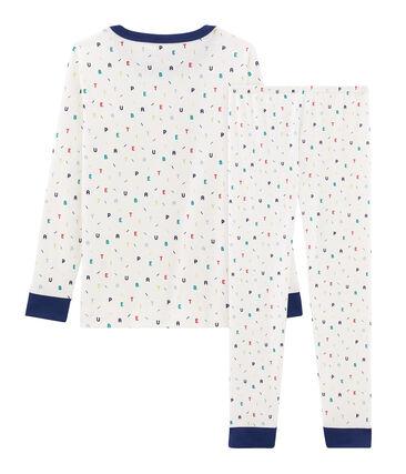 Pijama de corte muy ajustado de punto para niño blanco Marshmallow / blanco Multico