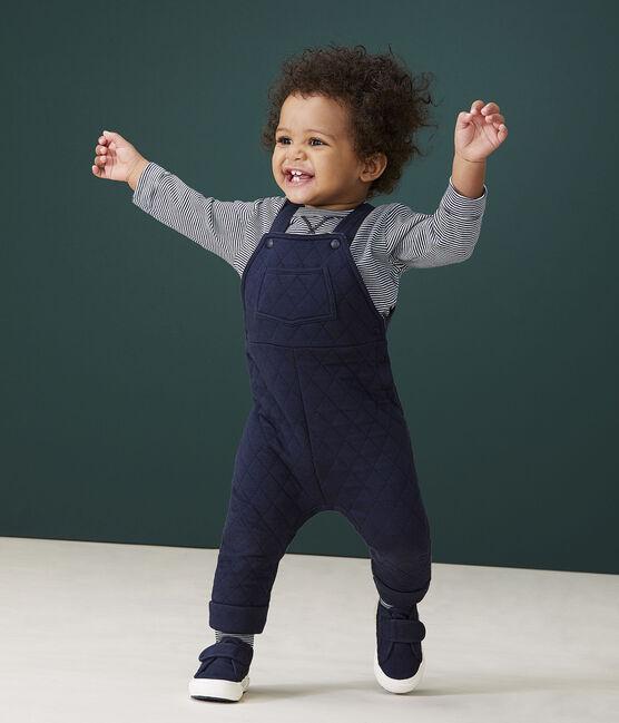 Peto largo para bebé niño azul Smoking