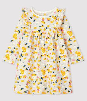 Vestido de manga larga para bebé niña beige Montelimar / blanco Multico