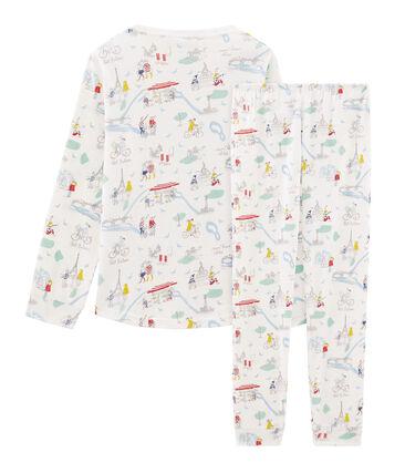 Pijama de punto para niña blanco Marshmallow / blanco Multico Cn