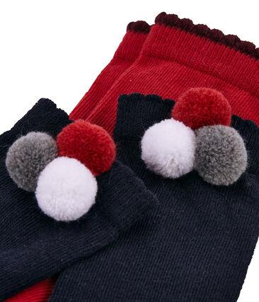 Lote de 2 pares de calcetines con pompón lote .