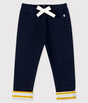 Pantalón de tejido túbico para bebé niño azul Smoking