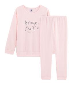 Pijama de rizo picado para niña muy cálido