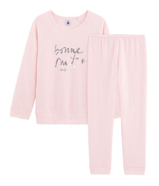 Pijama de rizo picado para niña muy cálido MINOIS