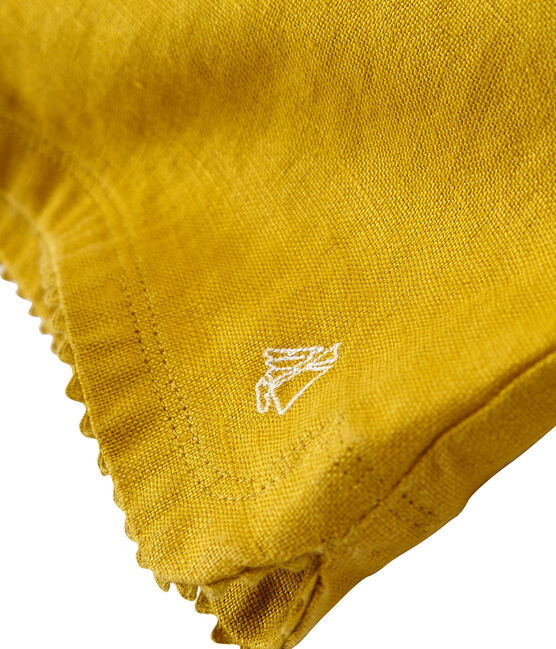 Shorts infantiles para niña amarillo Bamboo