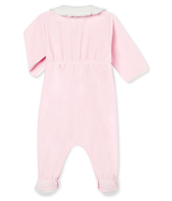Pijama para bebé niña de terciopelo de algodón liso VIENNE
