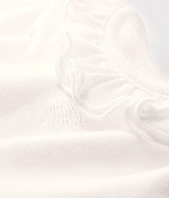 Bodi de manga larga para bebé niña blanco Marshmallow