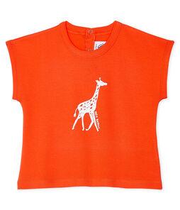 Camiseta de manga corta para bebé niño naranja Spicy