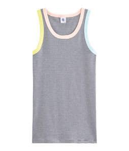 Camiseta de tirantes icónica para mujer azul Smoking / blanco Marshmallow