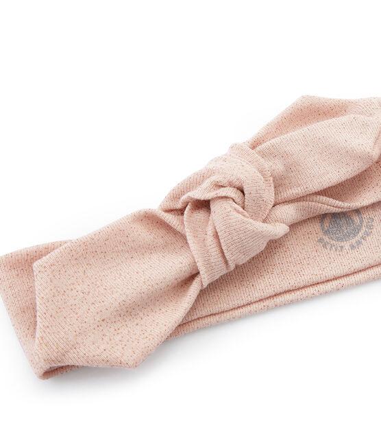 Turbante infantil para niña azul Bocal / rosa Copper