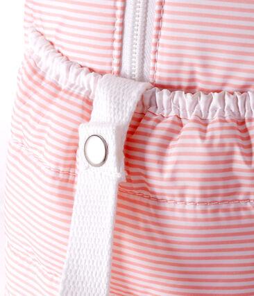 Bolsa de cambiador de poliéster acolchado. rosa Rosako / blanco Marshmallow