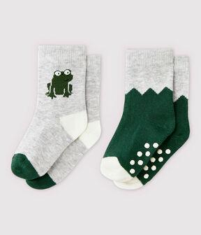 Lote de 2 pares de calcetines con dibujo de bebé niño lote .