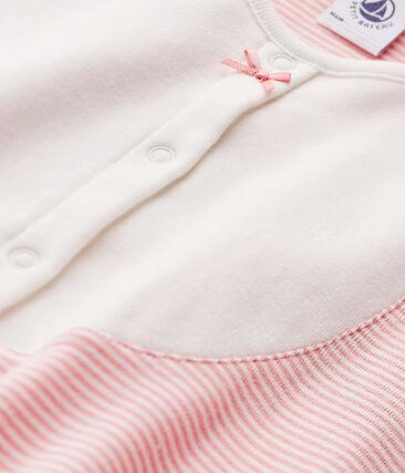 Camisón milrayas para niña rosa Gretel / blanco Lait