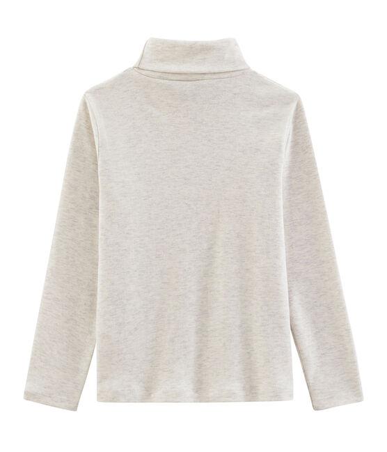 Jersey de cuello alto infantil unisex gris Montelimar Chine