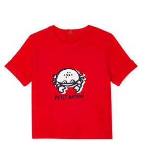 Camiseta de manga corta para bebé niño rojo Peps