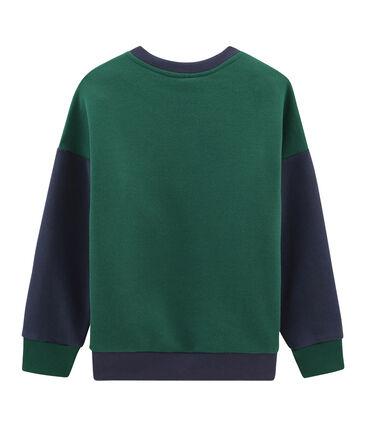 Sudadera de niño verde Sousbois / azul Smoking