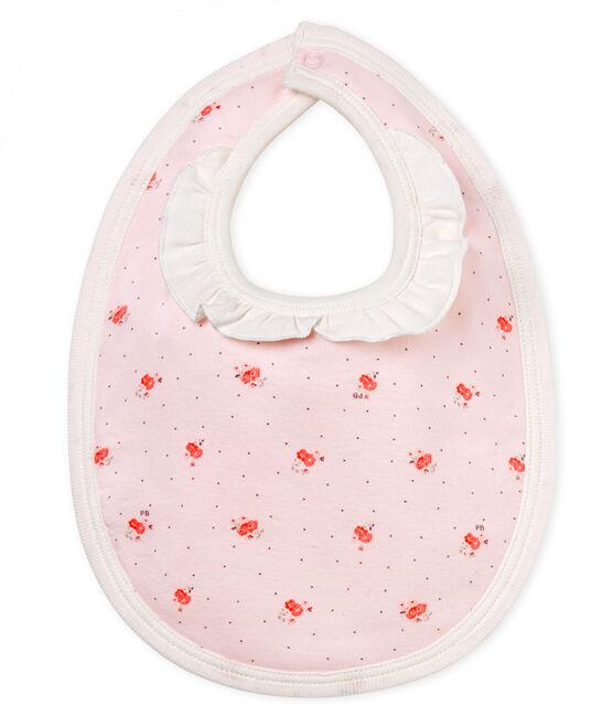 Babero estampado para bebé niña rosa Vienne / blanco Multico