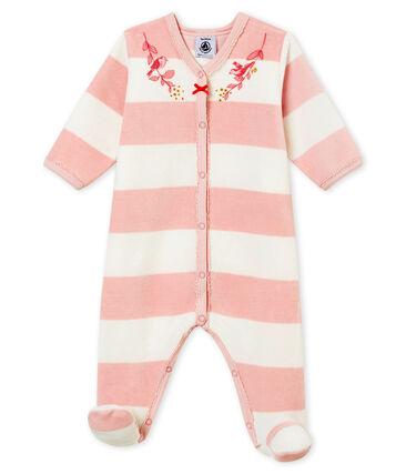 Pelele de noche para bebé niña rosa Joli / blanco Marshmallow