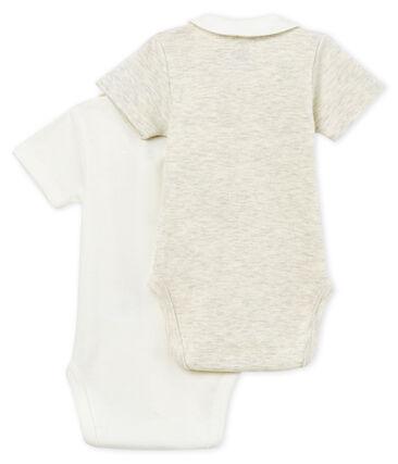 Lote de 2 bodis manga corta con cuello para bebé niño lote .