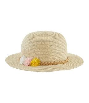 Sombrero de paja niña blanco Marshmallow