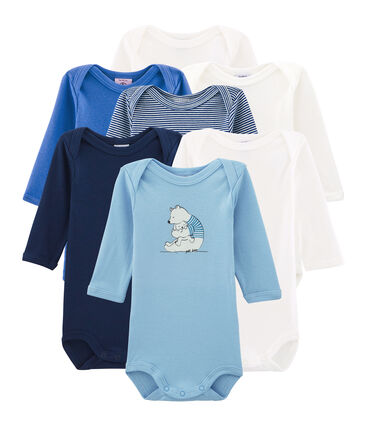 Bolsita sorpresa de 7 bodis de manga larga para bebé niño lote .