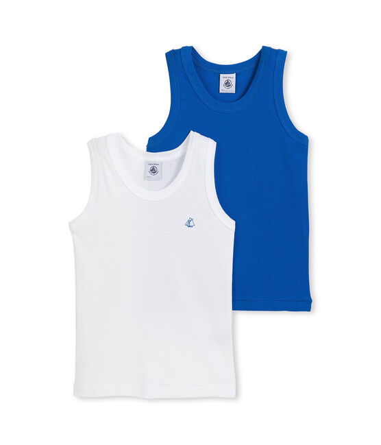 Set of 2 boy's plain vest tops lote .