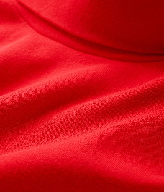 Jersey de cuello alto infantil unisex rojo Terkuit