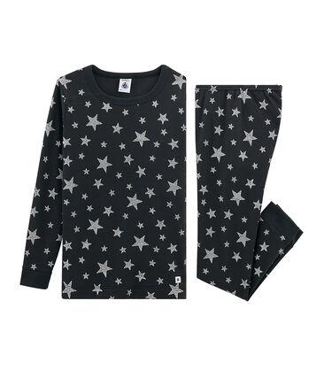 Pijama de corte muy ajustado de punto para niño gris Capecod / gris Argent