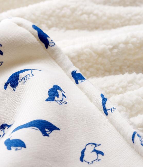 Manta para bebé de punto y sherpa blanco Marshmallow