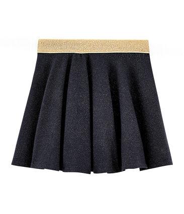 Falda de niña azul Smoking / amarillo Or