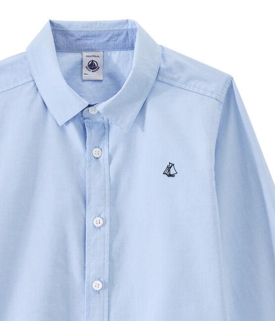 Camisa infantil para niño azul Bleu