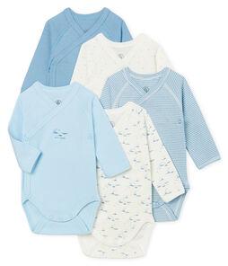 Lote de 5 bodies de nacimiento de manga larga para bebé