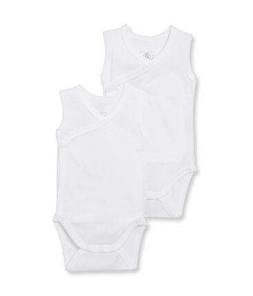 Par de bodis de nacimiento sin mangas para bebé