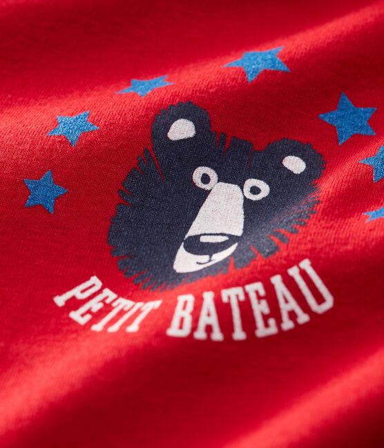 Camiseta para bebé niño rojo Terkuit