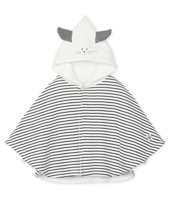Capa icónica doubléa para bebé unisex de punto blanco Marshmallow / azul Smoking