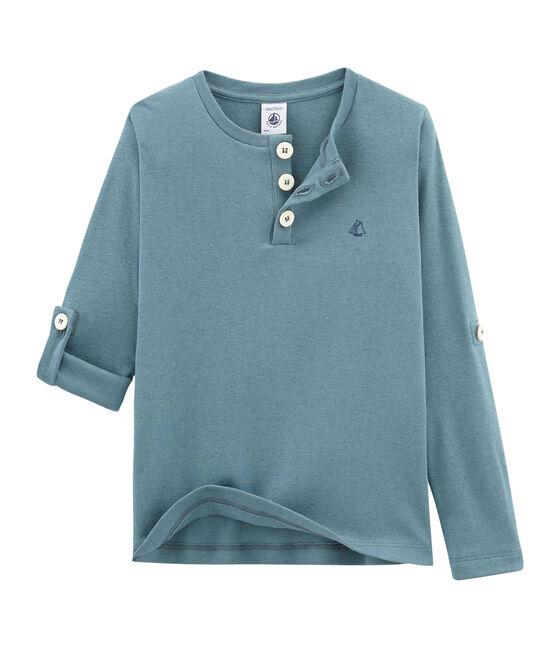 Camiseta manga larga infantil para niño azul Fontaine