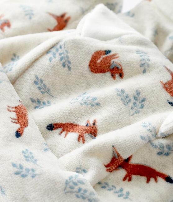 Juego de gorrito y patucos de zorro de terciopelo para bebé niño beige Montelimar / blanco Multico