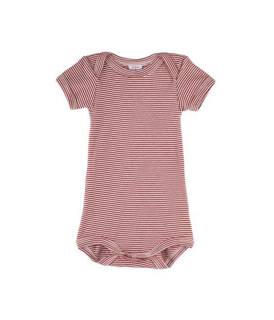 Bodi manga corta para bebé niño rojo Carmin / blanco Marshmallow