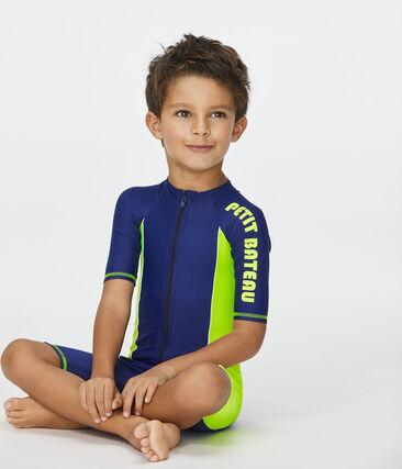 Conjunto infantil con protección solar azul Smoking