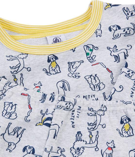 Pijama de punto para niño gris Beluga / blanco Multico