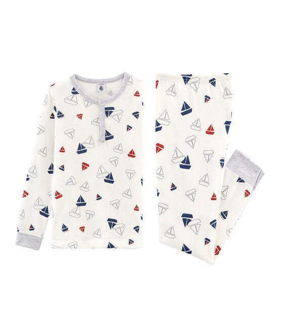 Pijama de muletón para niño blanco Marshmallow / blanco Multico