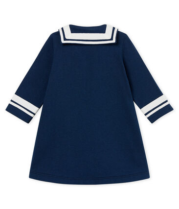 Vestido manga larga con cuello de guerrera para bebé niña azul Haddock