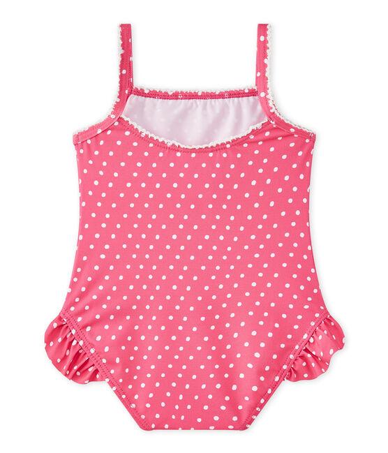 Bañador de niña con lunares rosa Petunia / blanco Marshmallo