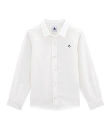 Camisa de lino y algodón para niño