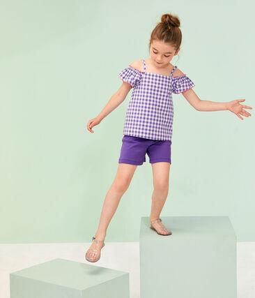 Bermudas de tela para niña violeta Real