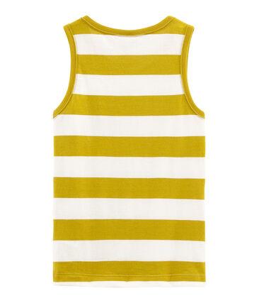 Camiseta de tirantes infantil para niño amarillo Bamboo / blanco Marshmallow