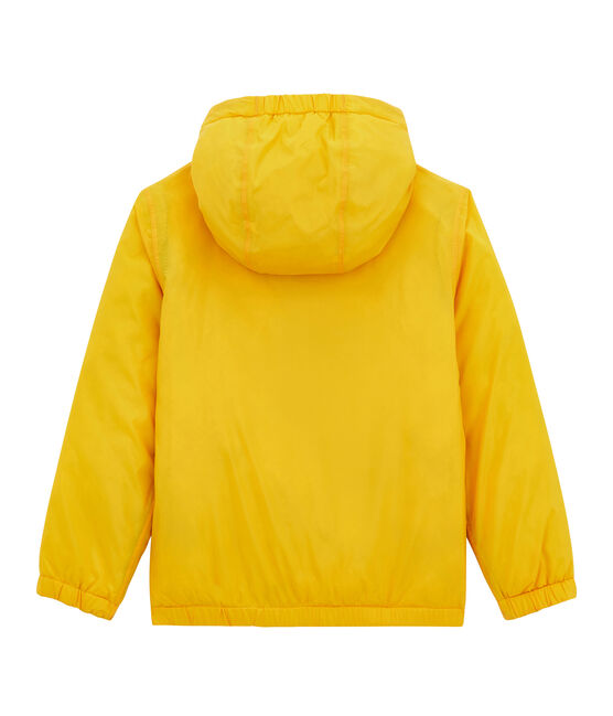 Corta viento reversible para niña amarillo Jaune
